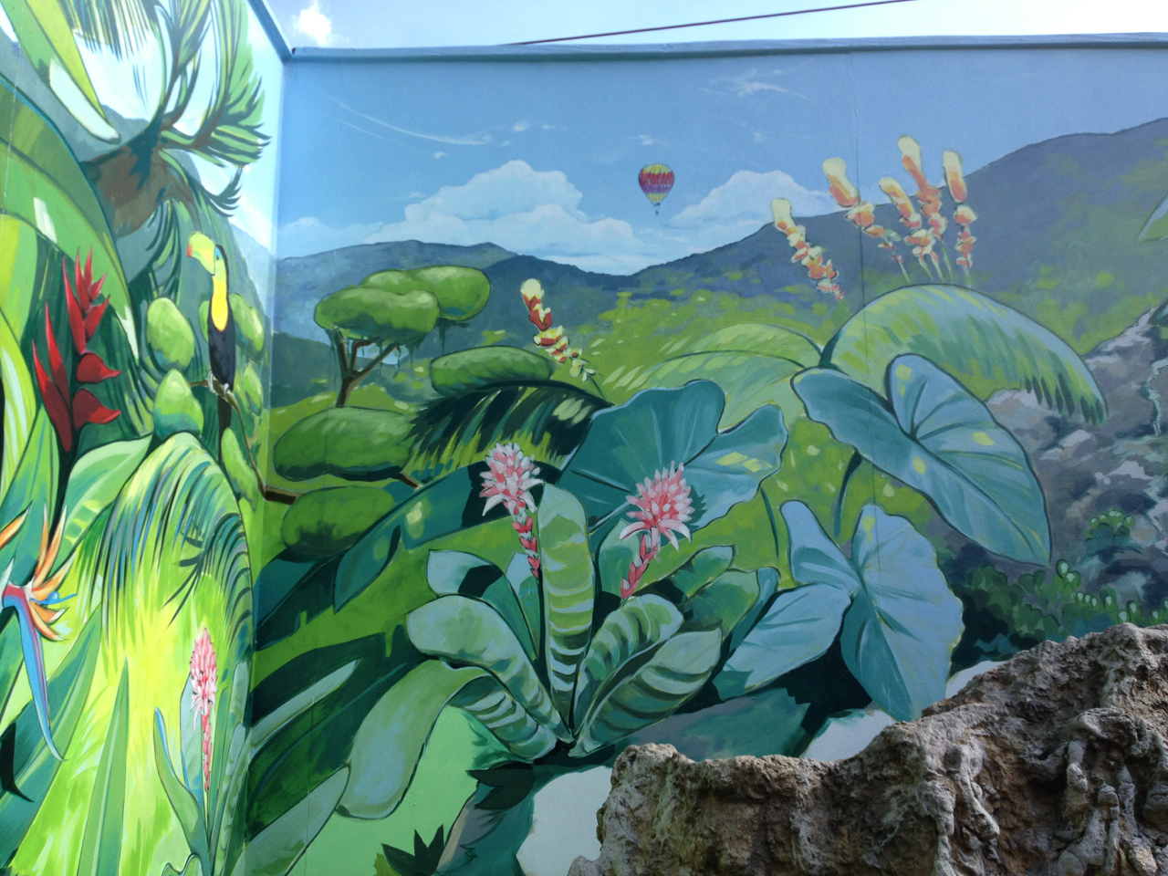 Oasis Hot Tub Gardens Treetown Murals